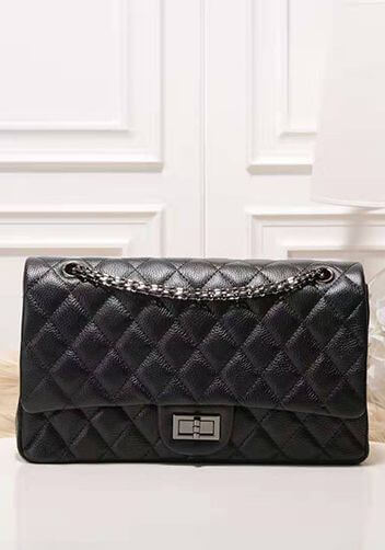 Black quilted chanel inspired bags.