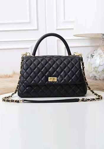 black chanel look alike bags with handle.