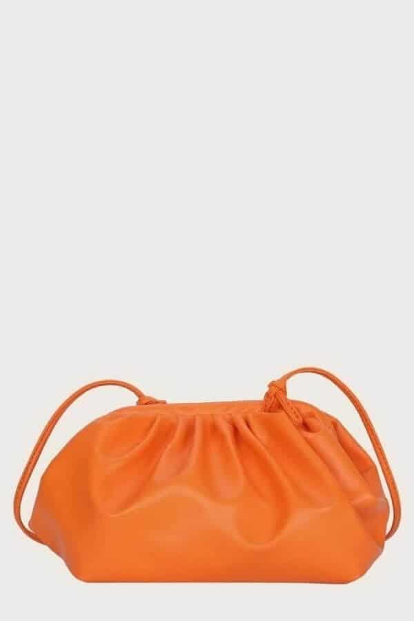 Orange bottega cloud bag dupe and inspired bag.