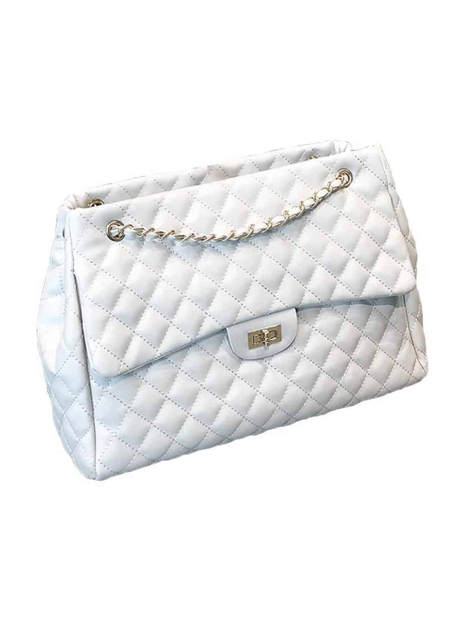 White chanel tote bag dupe