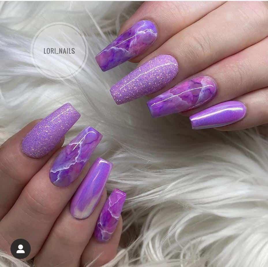 purple pretty nail designs ideas