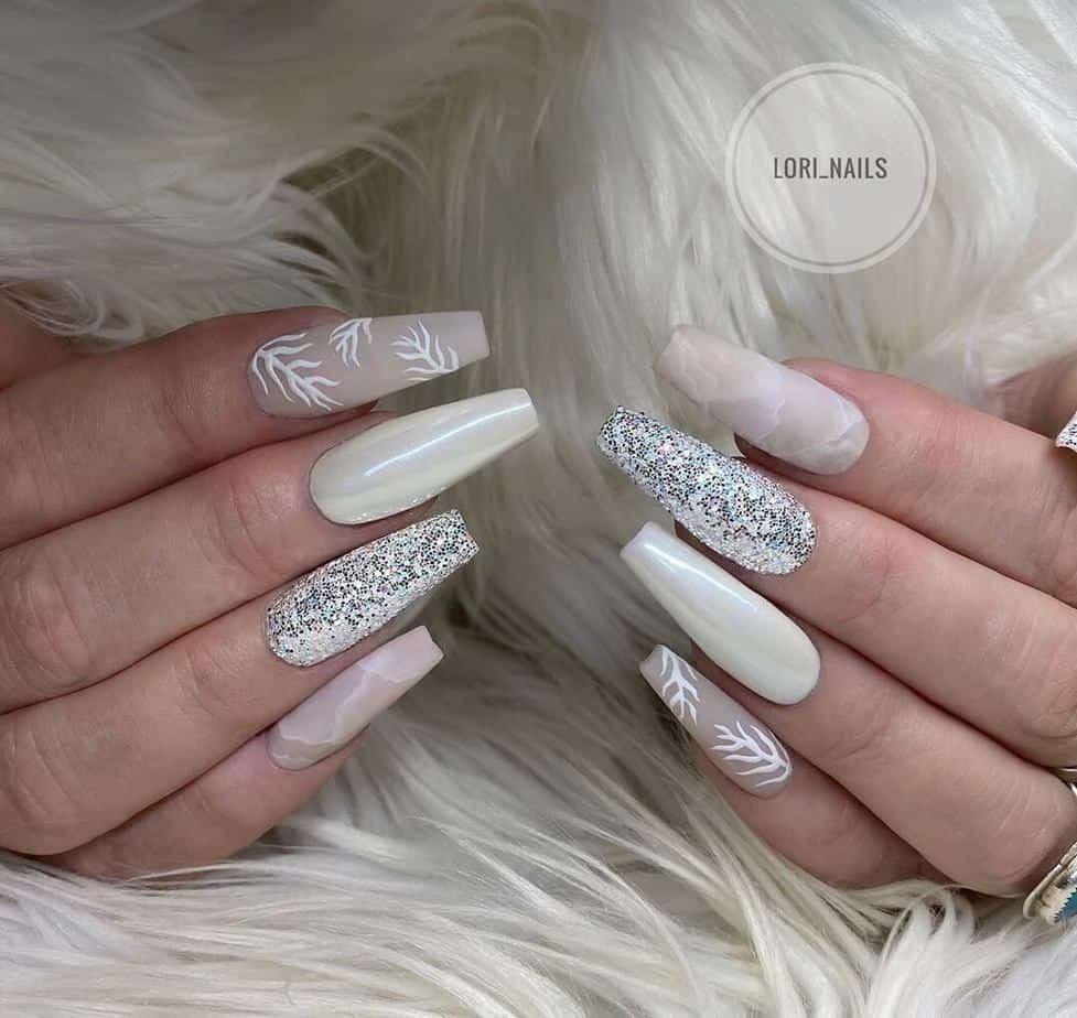 White pretty nail designs ideas!