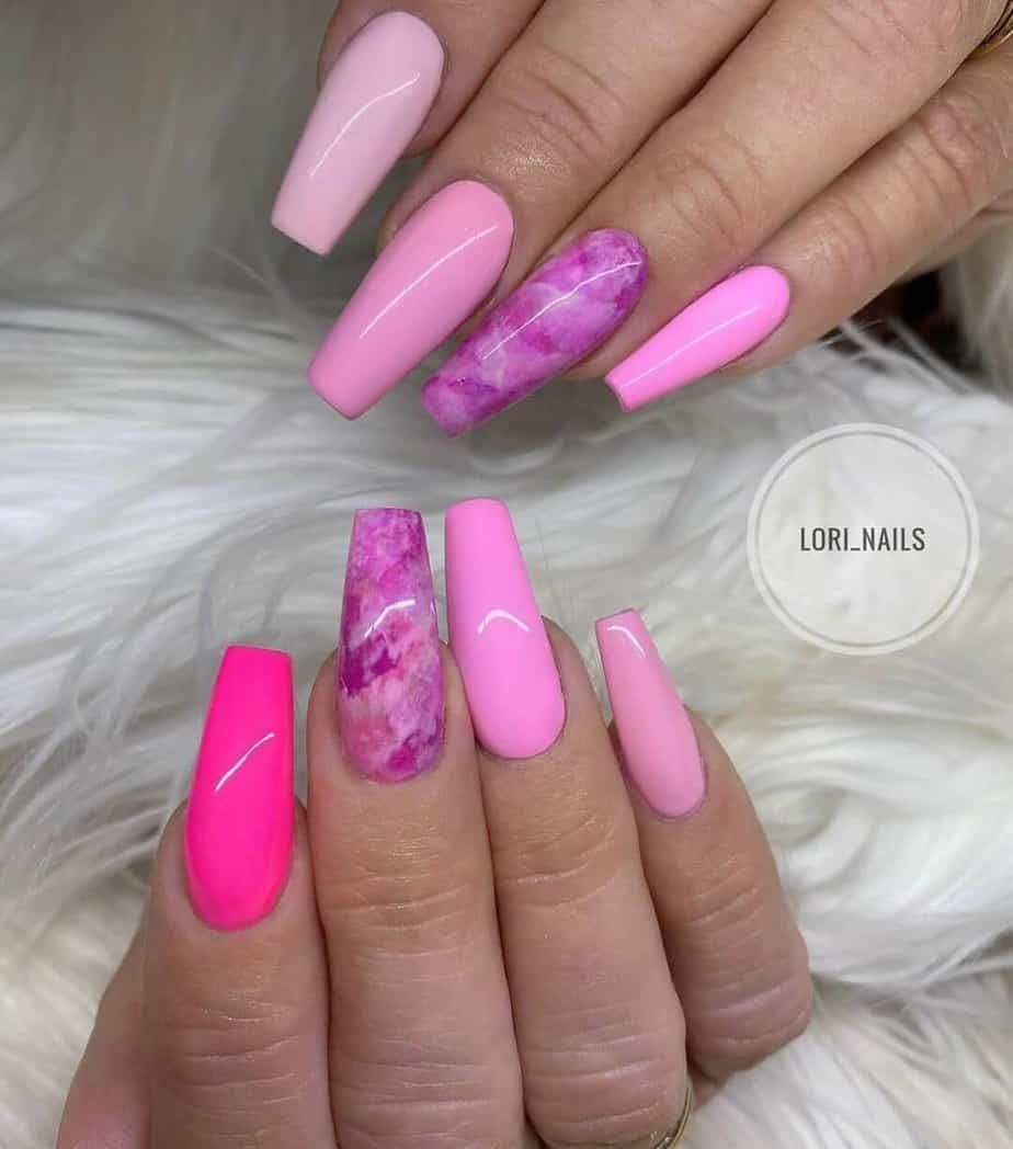 cute pink nail designs ideas.