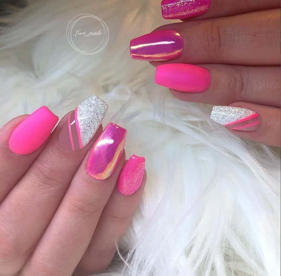 hot pink nail designs ideas.