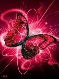 red wallpaper for iphone butterfly aesthetic
