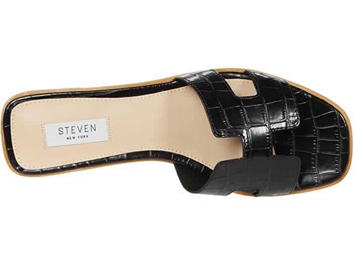 Black hermes dupe sandals slippers.