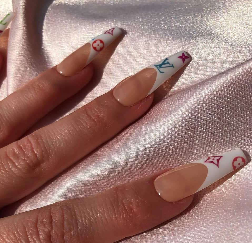 louis vuitton acrylic nails lv